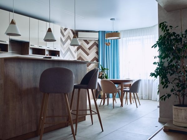 the dining table in kitchen