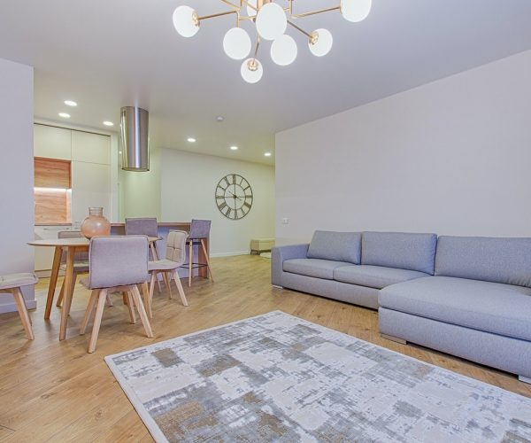 living and dining room together