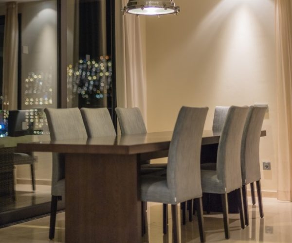 modern dining table and chair