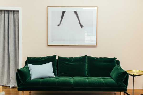 green velvet sofa uk